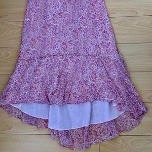 Ann Taylor Dresses - Ann Taylor Pink Paisley High Low Silk Dress